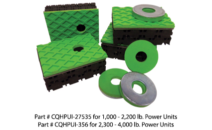 Hydraulic elevator equipment vibration isolation pads for noise sound control